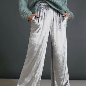 Maeve Anastacia Velvet Wide-Leg Pants - XS (NWT)